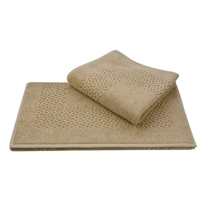 Mei Tal Bath Rug Color: Beige
