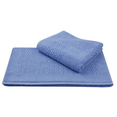 Mei Tal Bath Rug Color: Blue