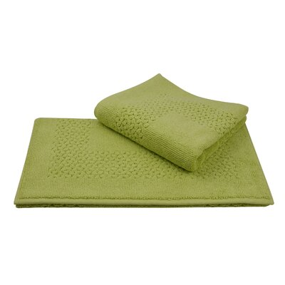 Mei Tal Bath Rug Color: Green