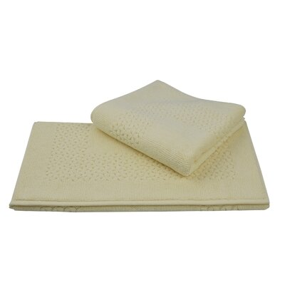 Mei Tal Bath Rug Color: Ivory