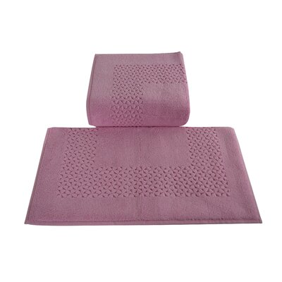 Mei Tal Bath Rug Color: Pink