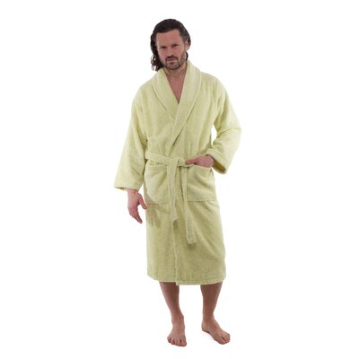 Salbakos Luxury 550 GSM Hotel & Spa Bathrobe Size: Large, Color: Green