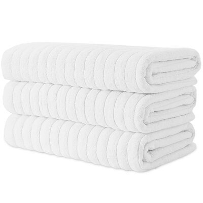 Brampton Combed Bath Sheet Color: White