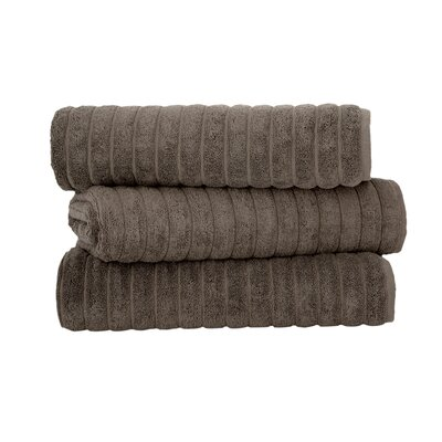 Brampton Combed Bath Sheet Color: Chocolate