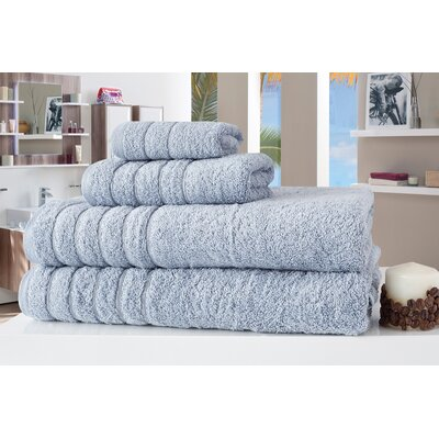 Barnum 4 Piece Towel Set Color: Blue