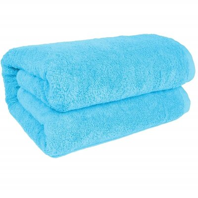 Salbakos Bath Sheet Color: Aqua