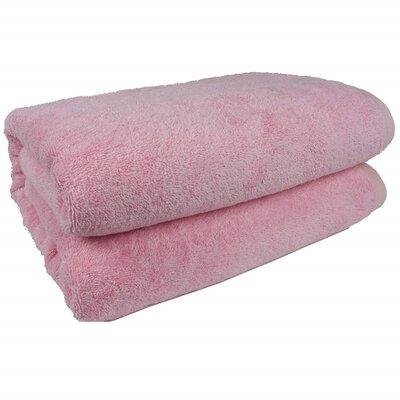 Salbakos Bath Sheet Color: Pink