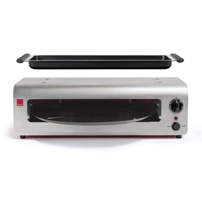 Ronco - Pizza & More™ Pizza Oven - Red and Stainless Steel PO1001RDGEN
