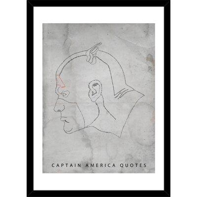 Captain America Quotes - Ltd Edition by Aurelie Scour Framed Painting Print M_PR00011783_BK