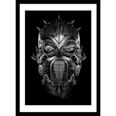 "Mask by Nicolas Obery Framed Graphic Art Size: 20"" H x 16"" W x 1"" D S_PR00011279_BK"