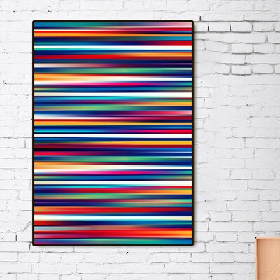 'Blurry Lines' Framed Graphic Art Print Size: 20