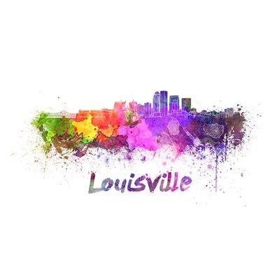 Louisville Splatter Skyline Graphic Art