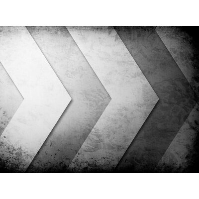 Cement Chevrons Graphic Art 12459P