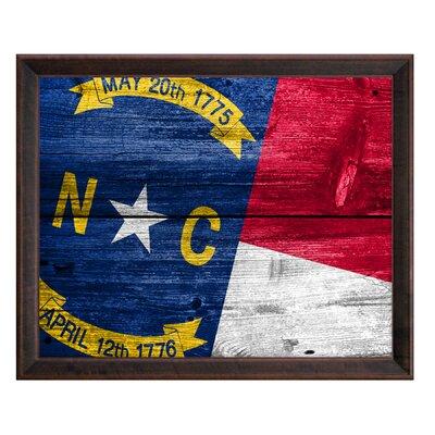 North Carolina Framed Graphic Art 12514F