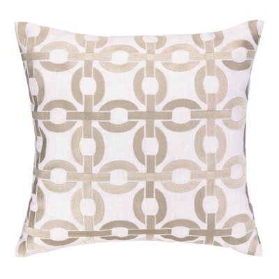 Cococozy Links Embroidered Throw Pillow Color: Taupe