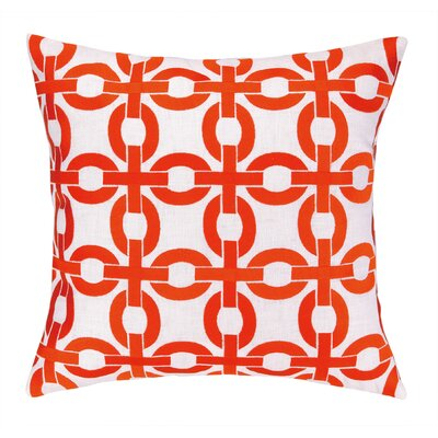 Cococozy Links Embroidered Throw Pillow Color: Orange