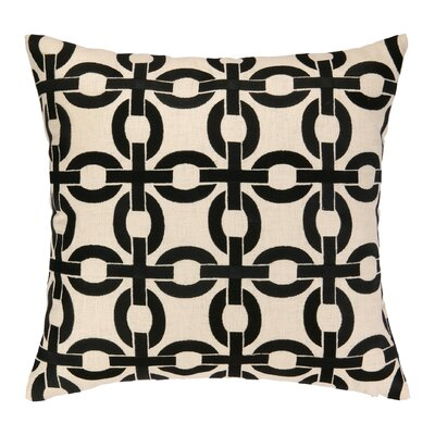 Cococozy Links Embroidered Throw Pillow Color: Black