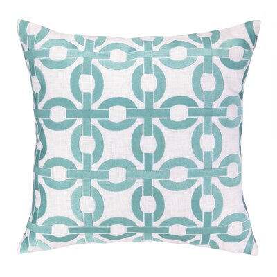 Cococozy Links Embroidered Throw Pillow Color: Light Blue