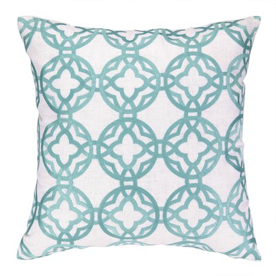 Cococozy Pacific Trellis Embroidered Throw Pillow Color: Light Blue
