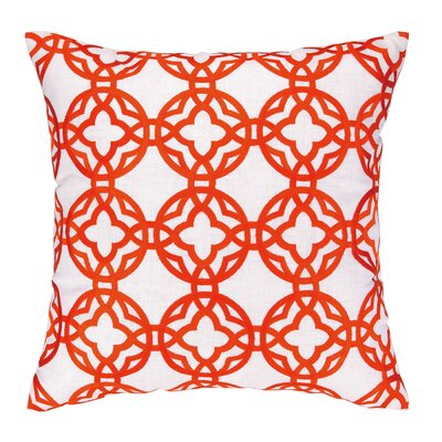 Cococozy Pacific Trellis Embroidered Throw Pillow Color: Orange