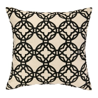 Cococozy Pacific Trellis Embroidered Throw Pillow Color: Black