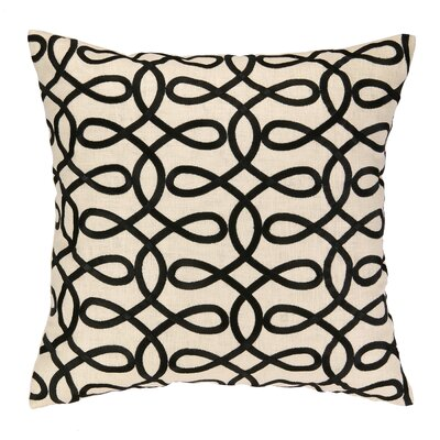 Cococozy Lyrical Embroidered Throw Pillow Color: Black