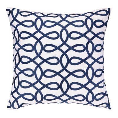 Cococozy Lyrical Embroidered Throw Pillow Color: Navy