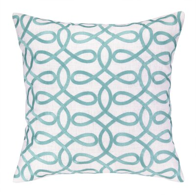 Cococozy Lyrical Embroidered Throw Pillow Color: Light Blue