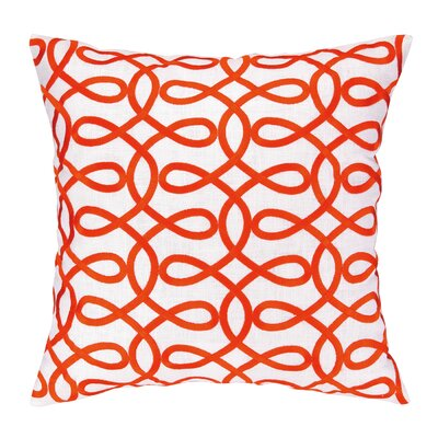 Cococozy Lyrical Embroidered Throw Pillow Color: Orange