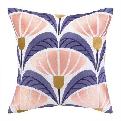Elizabeth Olwen Floral Deco Linen Throw Pillow