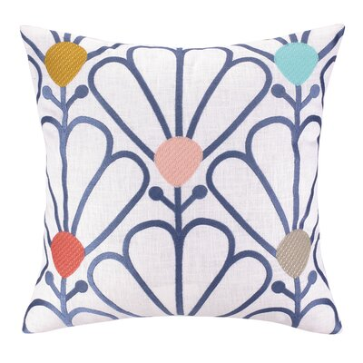 Pretty Petals Embroidered Throw Pillow