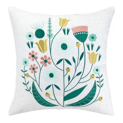 Whimsy Embroidered Throw Pillow