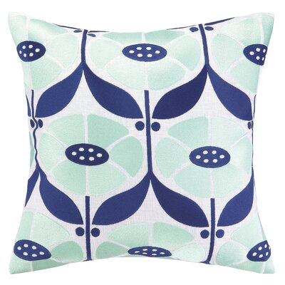 Full Bloom Embroidered Throw Pillow