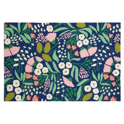 Lush Floral Blue/Green Area Rug