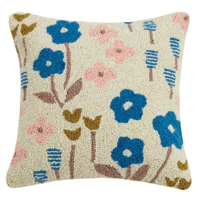 Beekman Place Meadow Floral Wool Throw Pillow