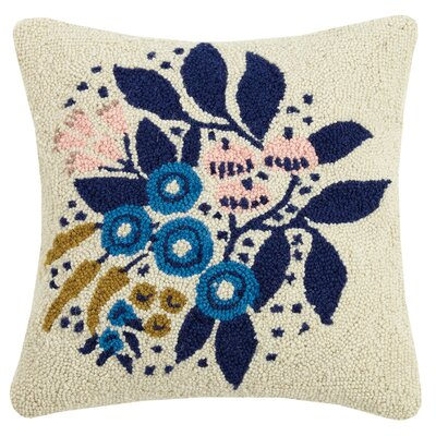 Beehler Floral Wool Throw Pillow