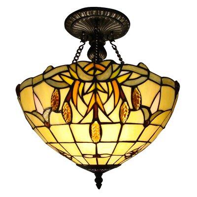 Tiffany 2-Light Semi-Flush Mount