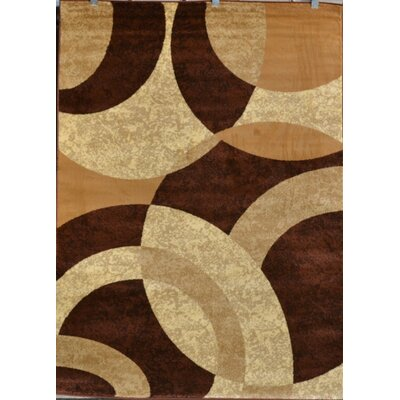 Modern Machine Woven Polypropylene Beige Area Rug Rug Size: Rectangular 39 x 53