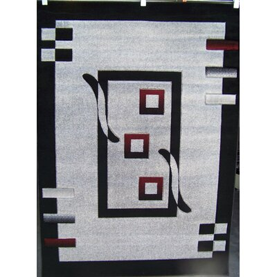 Avalon Modern Gray Area Rug Rug Size: 76 x 106