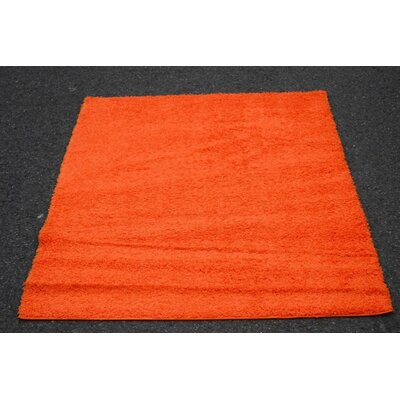 Modern Shag Orange Area Rug Rug Size: Rectangle 5 x 7