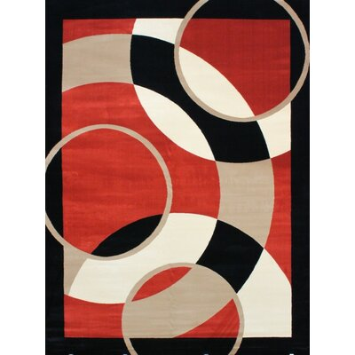 Modern Orange Area Rug Rug Size: Rectangle 5 x 7