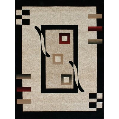 Avalon Modern Beige Area Rug Rug Size: Rectangle 76 x 106