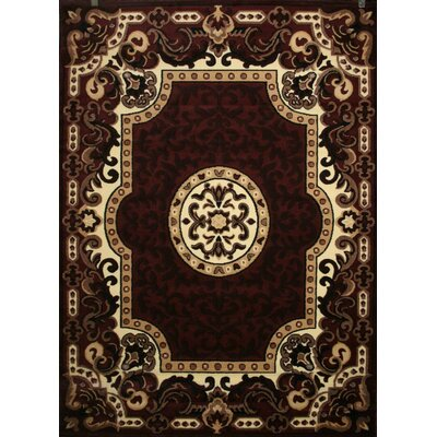 Oriental Red Area Rug Rug Size: Rectangle 76 x 104