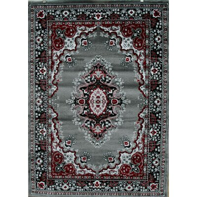 Oriental Isfahan Gray Area Rug Rug Size: Rectangle 52 x 72