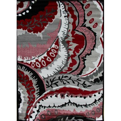 Modern Red Area Rug Rug Size: Rectangle 2 x 34