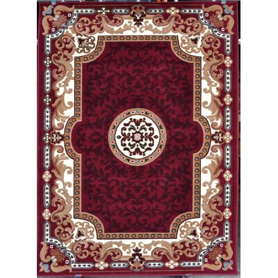 Oriental Red Area Rug Rug Size: Rectangle 52 x 72
