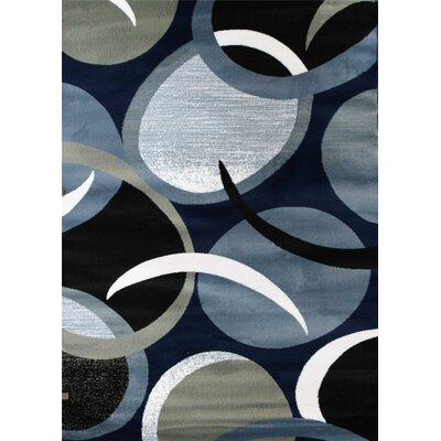 Abstract Blue Area Rug Rug Size: 52 x 72