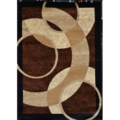 Modern Brown Area Rug Rug Size: Rectangle 5 x 7