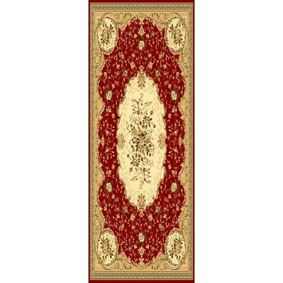 Burgundy Area Rug Rug Size: Rectangle 22 x 78