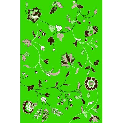 Lime Green Area Rug Rug Size: Rectangle 52 x 72